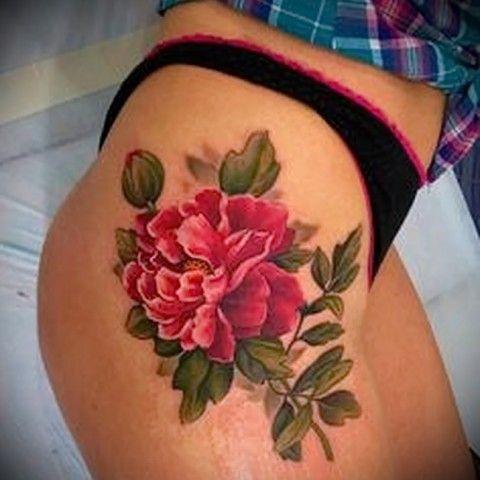 что значит татуировка цветок - пример на фото