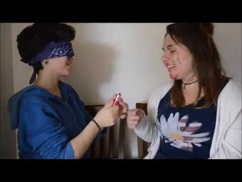 ▶ blindfolded makeup challenge with my cousin! - YouTube