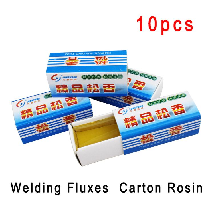 10pcs/lot high quality Carton Rosin for Electric Soldering Iron Soft Solder Welding Fluxes scaling powder free shipping #Affiliate