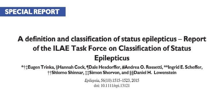 ILAE updates international guidance on Status Epilepticus