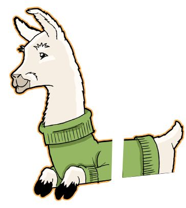 Llama character for the 2016 Sonoma Marin Fair poster