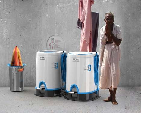 Not sure why I can't buy a non-electric washing machine in Canada but it's out there in India