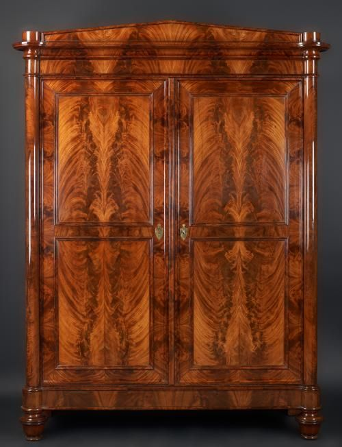 German Mahogany Cabinet, ca. 1840 my grandparents had one like it for many years