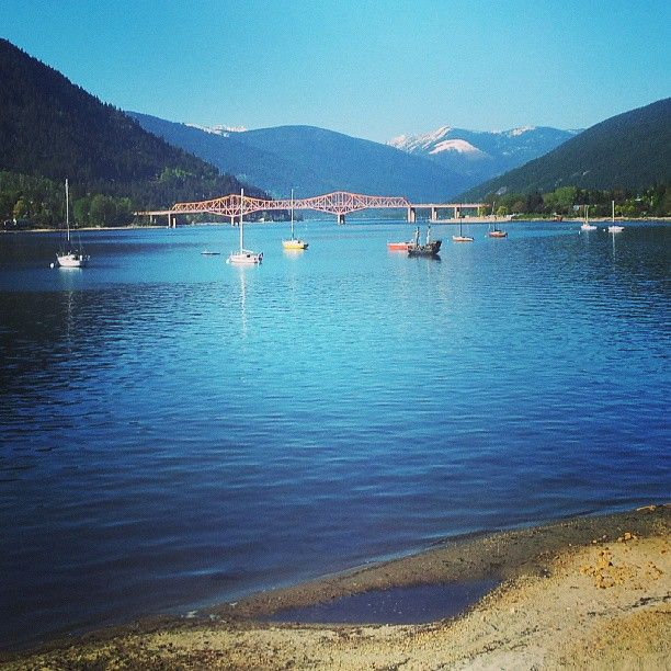 Beautiful shot of Kootenay Lake. #nelsonlife