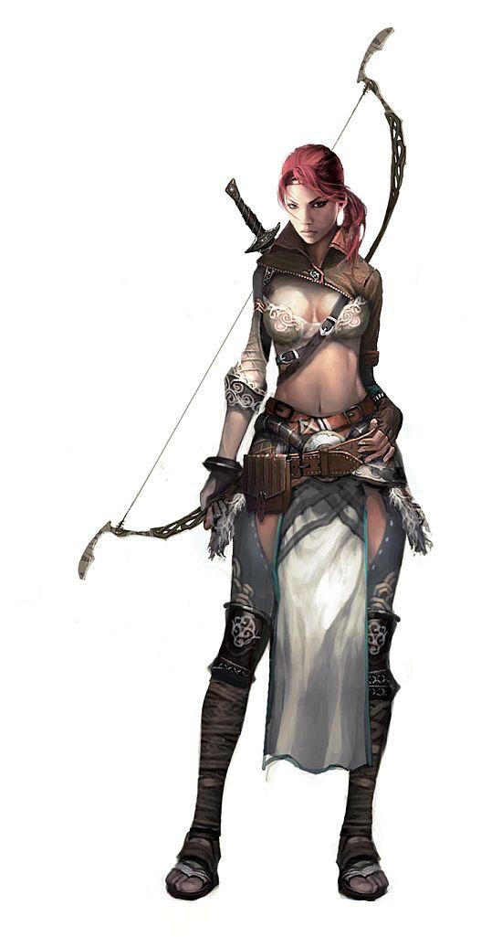 Female Elven Archer •Vynthallas
