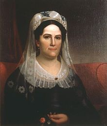 Rachel Jackson,born June 15 1767, was the wife of, Andrew Jackson, the 7th President of the United States. In what some consider one of the most vicious elections in U.S. history, Rachel endured extensive ridicule and malice during her husband's election campaign. She died of a heart attack just three months before her husband's inauguration. Her niece, Emily Donelson, became the surrogate first lady upon her death.