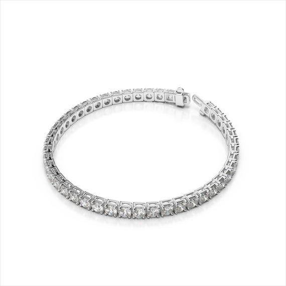 2 00 Carat Diamond Tennis Bracelet 14k Pure White Gold Si1 Etsy In 2020 Vintage Gold Bracelet Tennis Bracelet Diamond Thin Diamond Bracelet