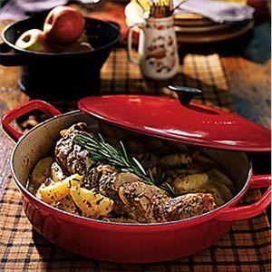 Rosemary Pork Tenderloin with Harvest Apples | MyRecipes.com