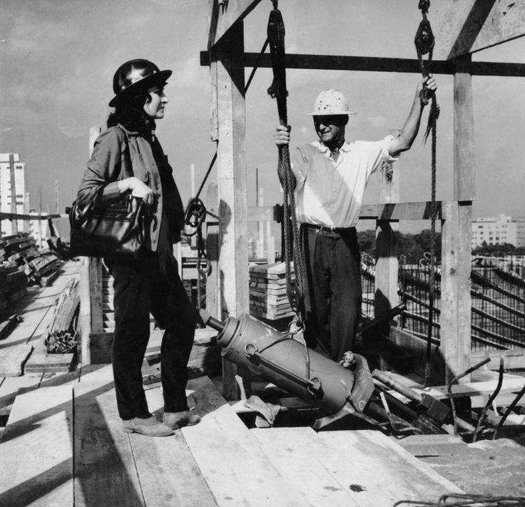 Lina Bo Bardi en la construcción del MASP