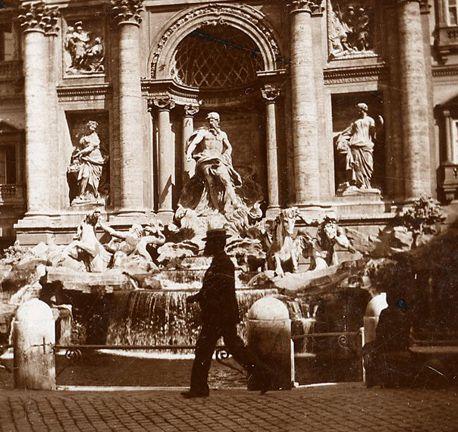 Rome, Trevi fountain (detail) 1895 (ca)