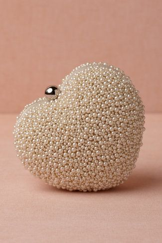 Heart Pearl Clutch. Great for any formal occasion especially weddings.