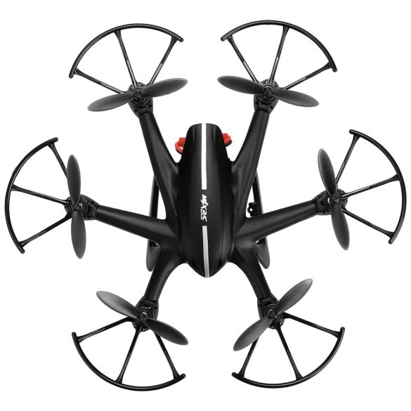 Main Material: ABS and Metal  Color: Black  Size (L x W x H): 20.5 x 20.5 x 4.5cm/7.99 x 7.99 x 1.75 inch (Approx)  Specification:  Multirotor Type: RC Quadcopter  Remote Mode: 2.4GHz  Channel: 4  Gyro: 6-Axis  Flight Time: About 8 Minute  Charging time: About 90 Minute  Flight Movement: Hover, Turn Left / Turn Right, 3D Roll  Battery: 3.7V 750mAh Li-poly  Remote battery: 6 x AA Battery (not included)  RC distance: 100m  Plugs Type: USB  Suit age: 14+  Features:  The quadcopter can fly…