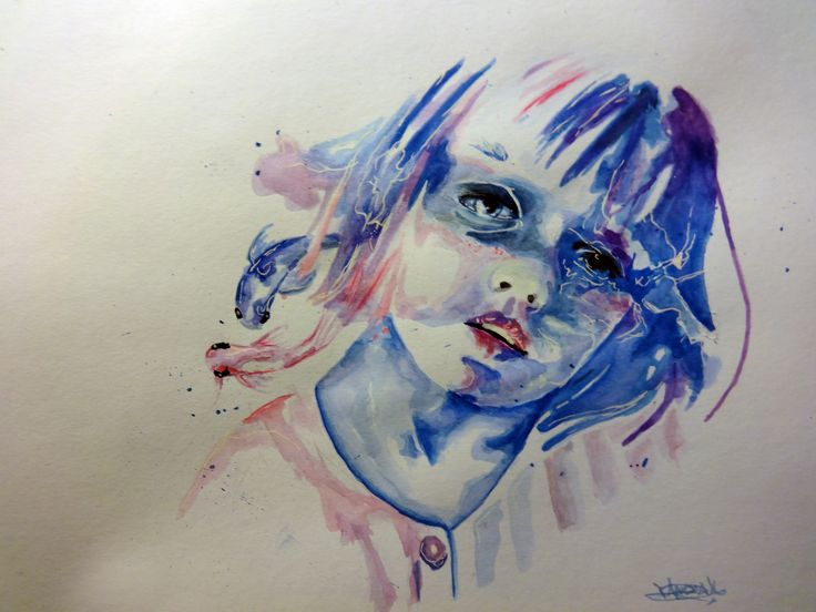 copy of a watercolor , oiginal made by Agnes cecile watercolor 2015 by Vanessa Ibarra