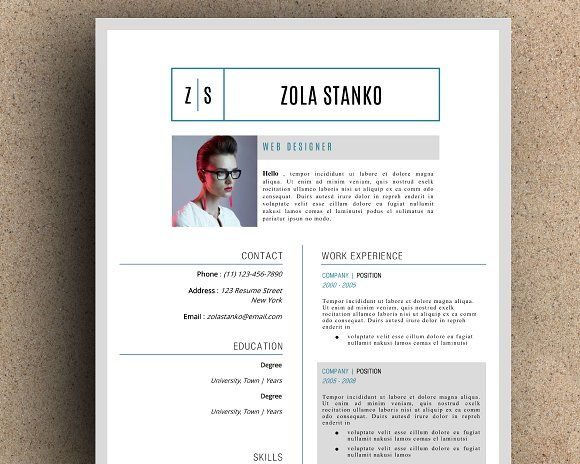 graphic design print resume self promotion images visual identity promo template sample within same company model