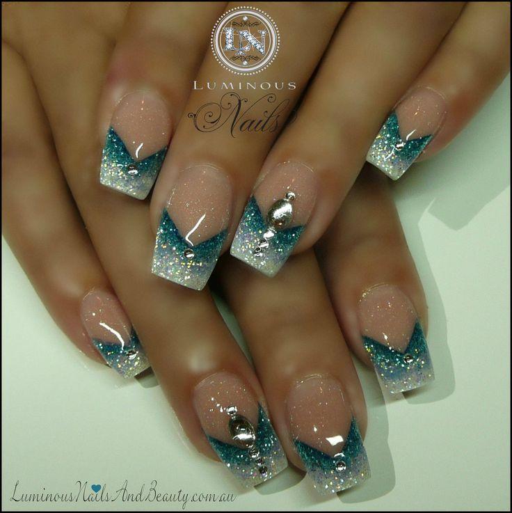 Royal Blue And Gold Nails | +Nails+&+Beauty,+Gold+Coast+Queensland+2.+Acrylic+Nails,+Gel+Nails ...