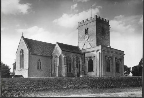 North-Leigh-Oxfordshire-Church-St-Mary-039-s-local-RP-postcard