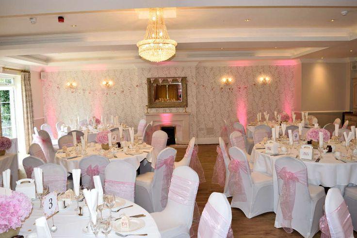Beaulieu Hotel Wedding Reception Uplighting - DJ Martin Lake