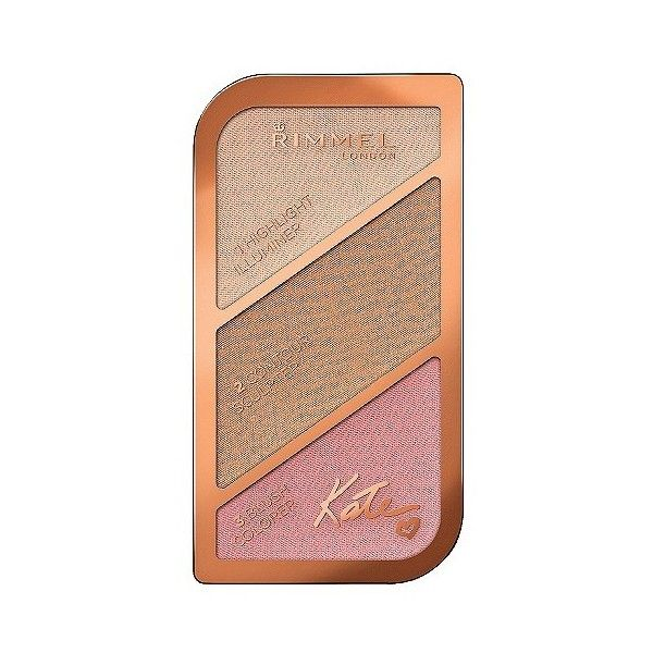 Rimmel Kate Sculpting Palette  Golden Sands .88oz found on Polyvore featuring beauty products, makeup, face makeup, rimmel cosmetics, rimmel makeup, highlighting kit, rimmel and palette makeup