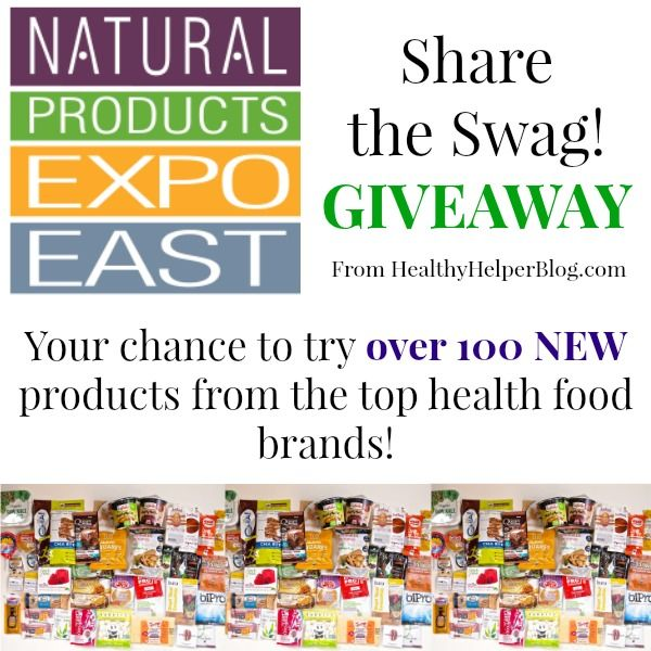 WIAW: Expo East Share-the-Swag #Giveaway! • via Healthy Helper  A full day of healthy eating and a HUGE giveaway!