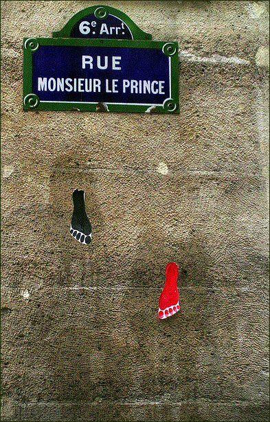 La rue Monsieur-le-Prince, à pied...  (Paris 6ème)