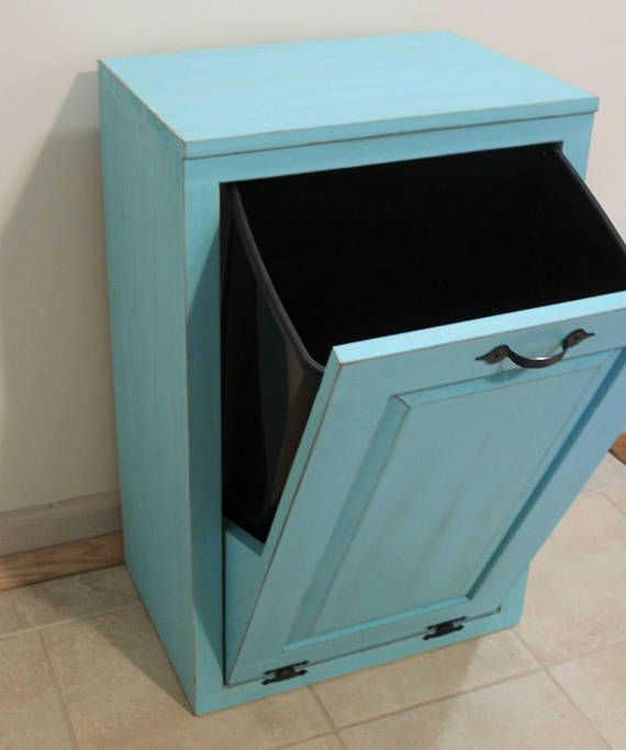 Kitchen Impressive Tilt Out Kitchen Trash Can Cabinet: Best 25+ Rustic Kitchen Trash Cans Ideas On Pinterest