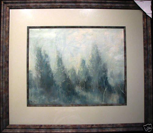 David Dridan Australian original oil titled  Early Morning Hills Pastorale .