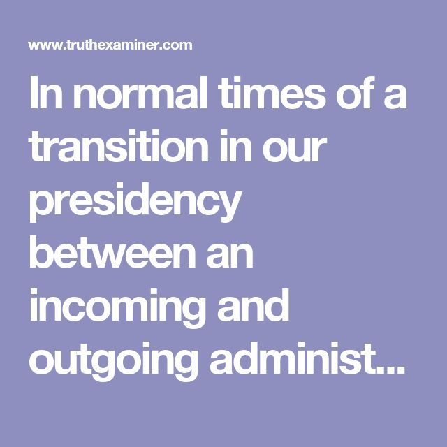 In normal times of a transition in our presidency between an incoming and outgoing administration of differing political parties, there is a certain amount of fretting on one side and gloating on the other. And the press usually takes a stance that the new administration at least deserves to have a chance to get started – a honeymoon period. But these are not normal times. This is not about tax policy, health care, or education – even though all those and more are so important. This is about…
