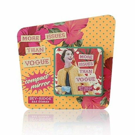 """""""More Issues Than Vogue"""" Compact Mirror. Retro Design by Bev Ridge"""