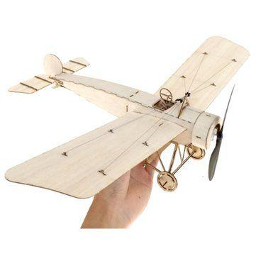 MinimumRC Fokker E3 420mm Wingspan Balsa Wood Laser Cut RC Airplane KIT
