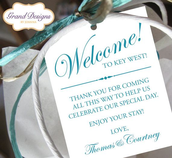 ... Special Day! Pinterest Hotel welcome bags, Bags and Welcome bags