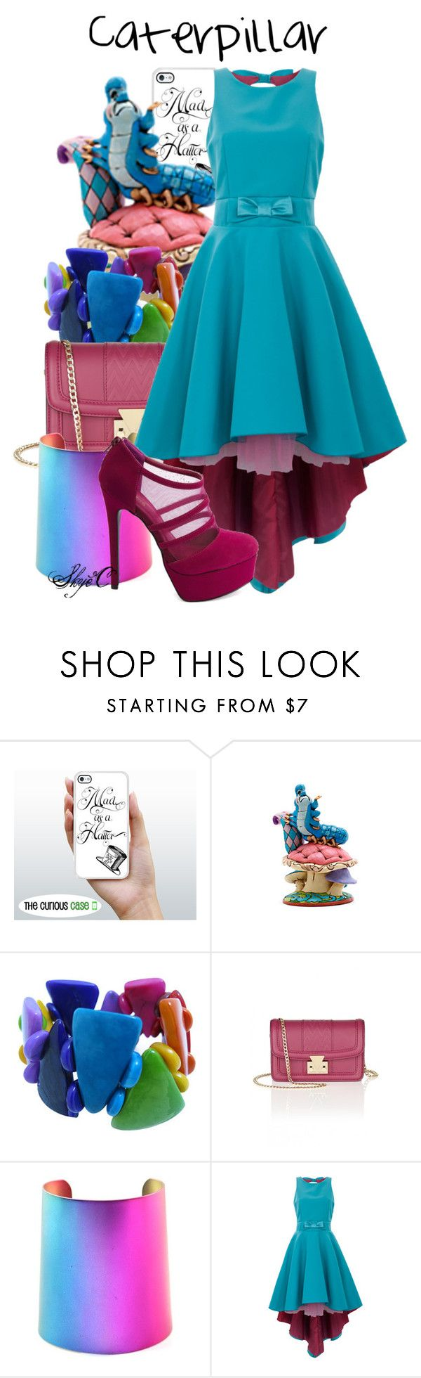 """Caterpillar - Disney's Alice in Wonderland"" by rubytyra ❤ liked on Polyvore featuring Disney, Matthew Williamson, Kate Fearnley, Charlotte Russe, disney, aliceinwonderland and disneybound"