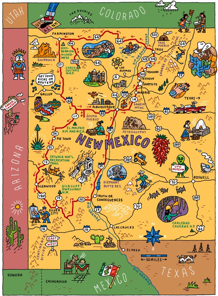 Best New Mexico Map Ideas On Pinterest New Mexico Road Trip - Southwestern usa map