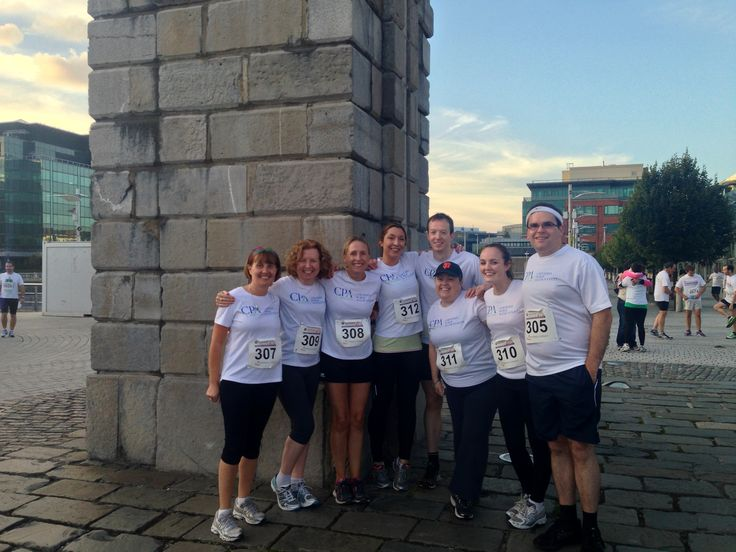 CPA Ireland's running teams strike a pose before the Grant Thornton 5K challenge. Well done  L-R  to Cait, Suzanne, Dee, Jean, Michael, Kelly, Grace and Cathal.