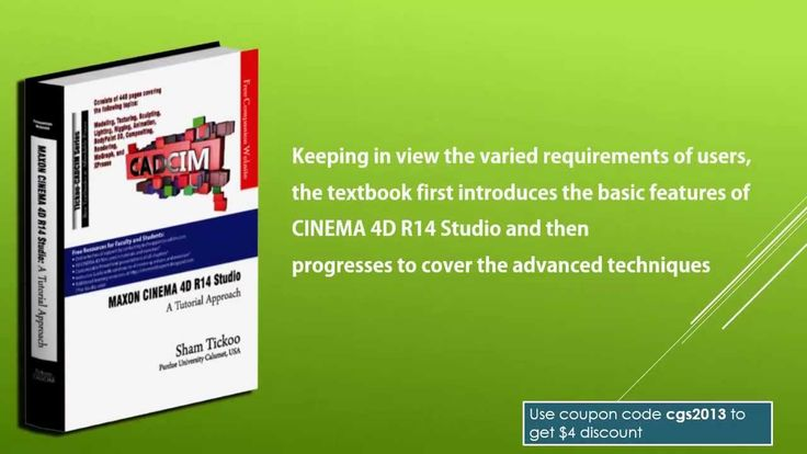 Book trailer: CINEMA 4D R14 Studio book from CADCIM Technologies.