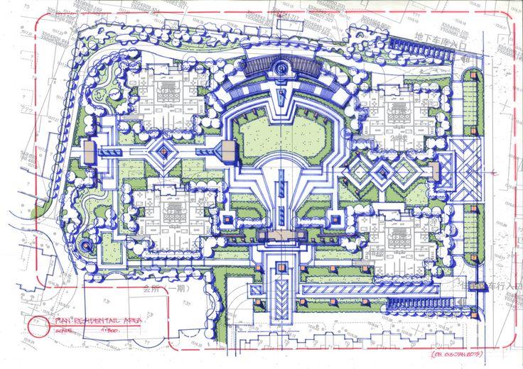 Sketch Landscape plan:Arc-Deco