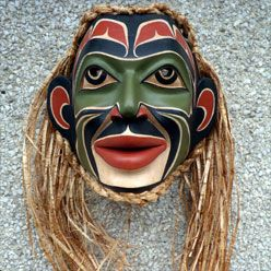 Traditional Tlingit Shaman Mask  Randy Stiglitz