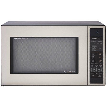 Sharp R930CS Carousel Countertop Convection + Microwave Oven 1.5 cu. ft. 900W Stainless Steel, Silver