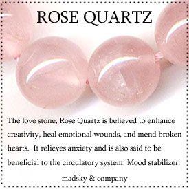 rose quartz mala beads