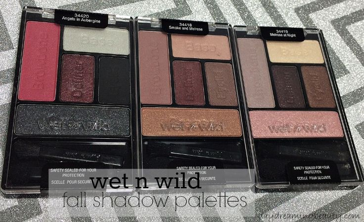 wet n wild fall eyeshadow palettes via daydreaming beauty Smoke and Melrose and Melrose at Night swatched #wetnwild #wnw