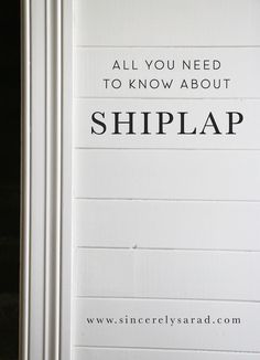Thanks to HGTV's Fixer Upper, the Gaines's love for shiplap walls has spread like wild fire across the nation. These wooden boards add dimension and interest to any space. Shiplap is not a new concept. It is a type of wooden interior wall paneling identified by long horizontal (or vertical panels) with distinctive channels in between …