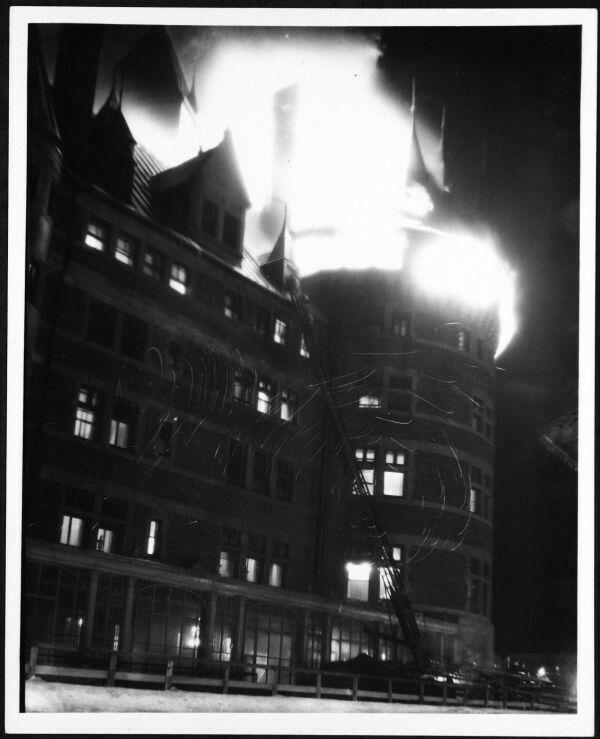 Incendie du Château Frontenac en 1926