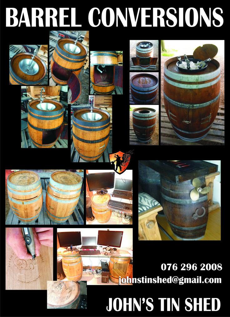 Custom wine barrel conversions
