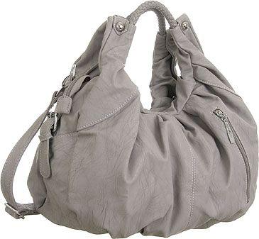 Purse Boutique: Grey ''Nancy'' Convertible Crossbody Hobo Purse, Purses