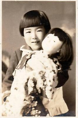 WWII Japan Photo FREE Shipping! & 1000+ Scans Little Girl & Doll