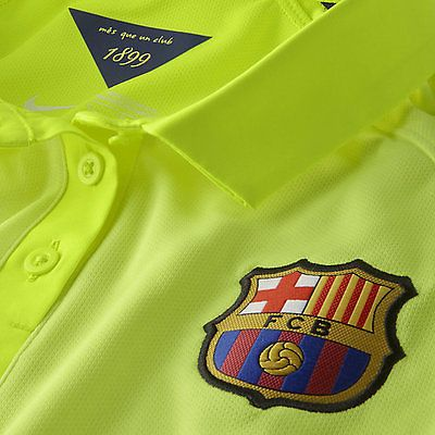 NIKE NEYMAR JR FC BARCELONA THIRD 3RD JERSEY 2014/15 Volt/Loyal Blue