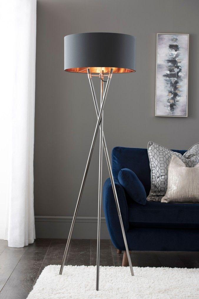 Next Grey Copper Floor Lamp Grey Floor Standing Lamps Copper Floor Lamp Floor Lamps Uk
