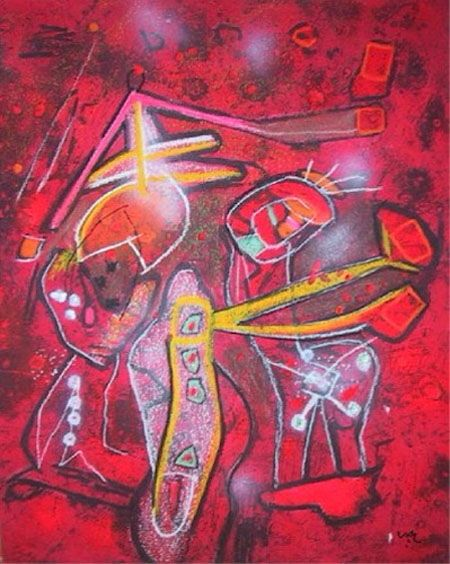 Roberto Matta (1911-2002)  was one of Chile's best-known painters and a seminal figure in 20th century abstract expressionist and surrealist art.  Matta believed that art and poetry can change lives, and was very involved in the social movements of the 1960s and 1970s. He was a strong supporter of the socialist government of president Salvador Allende in Chile.
