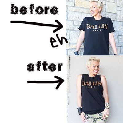 DIY T-shirt Cutting: T-shirts to Cute Tank Tops: