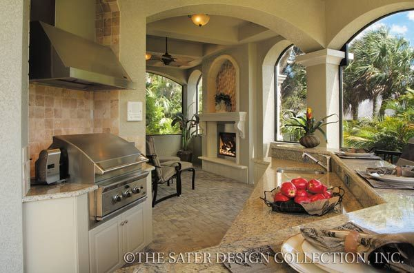 "The Sater Design Collection's luxury, Mediterranean home plan ""Pontedera"" (Plan #6943). saterdesign.com"