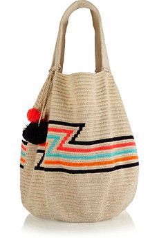 Sophie Anderson Luz crocheted cotton tote | NET-A-PORTER